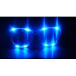 Retro LED Eye Glasses (Blue)