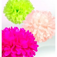 Assorted Color Pom Poms (Set of 3)