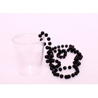 Shot Glasses with Beads (Black Beads)