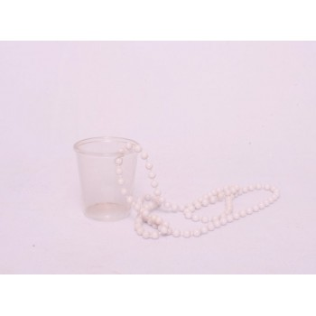Shot Glasses with White Beads