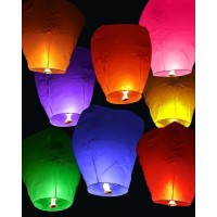 Sky Lanterns Assorted ( pack of 10)