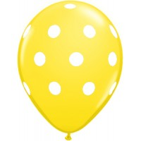 Yellow Polka Dot Balloon (Pack of 10)