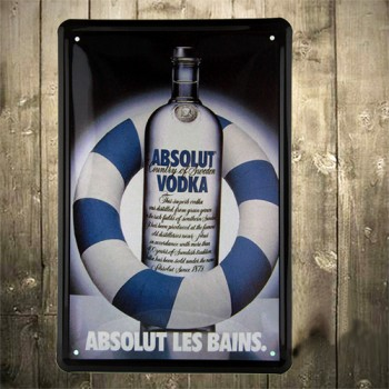 Absolut Country of Sweden Vodka Metal Signs