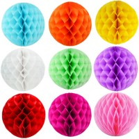 Assorted Color Paper HoneyComb Hanging (Pack of 3)