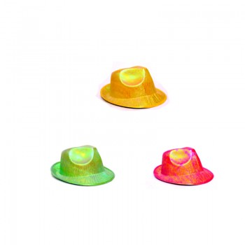 Assorted Color Glossy Hats (1 Pc)