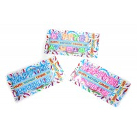 Assorted Color Happy Birthday Candle Set (Pack of 1)
