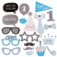 Assorted Design Boy Fun To Be One Photobooth Props (12 Pcs)