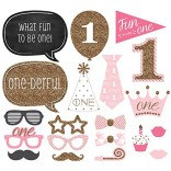 Assorted Design Girl Fun To Be One Photobooth Props (12 Pcs)