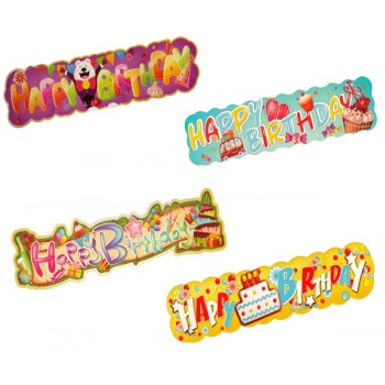 Assorted Designs 3d Happy Birthday Banners (Pack of 1)