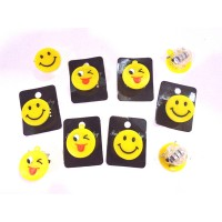 Assorted Emoji Led Brooches (1 Pc)