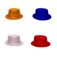 Assorted Glitter Plastic Hats (Pack Of 4)