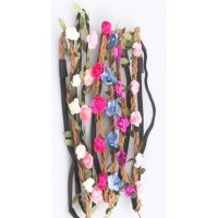 Assorted Color Floral Tiara