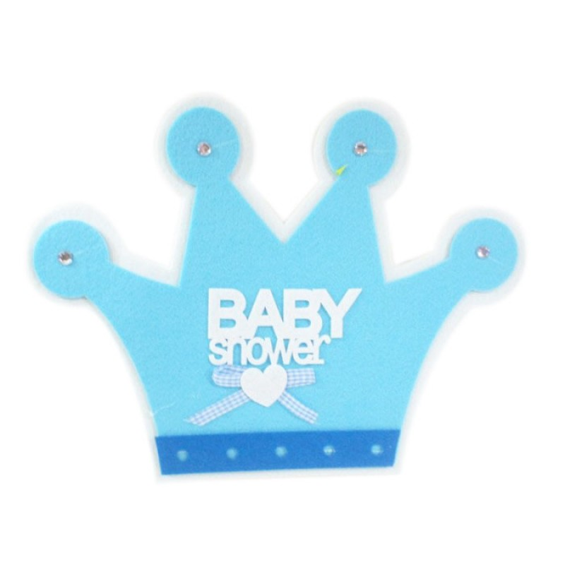 Baby boy crown cutout for Baby shower decoration cutouts