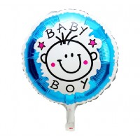 Baby Boy Round Balloon