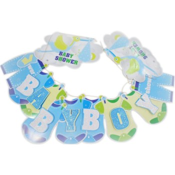 Baby Shower Blue Letter Banner