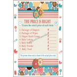 "Baby Shower The Price Is Right Game Pack of 6 (size 11.7"" x 8.3"")"