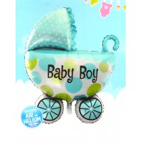 Baby Boy Printed Pram Supershape Balloon