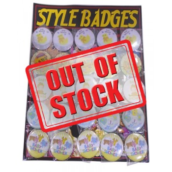 Baby Shower Style Badges