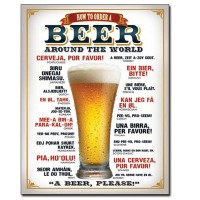 Beer Around The World Vintage Style Metal Signs