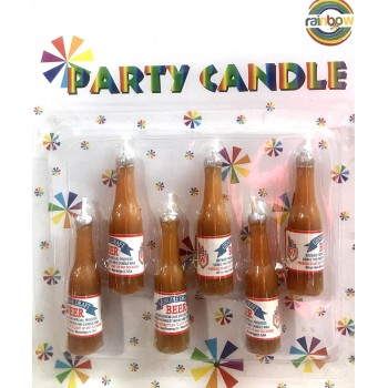 Beer Bottle Shaped Candles (6 Pcs)