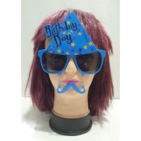Birthday Boy Printed  Eye Glass With Moustache