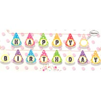 Birthday Cap Happy Birthday Banner (1 Pack)