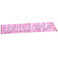 Birthday Girl Light Pink Party Sash
