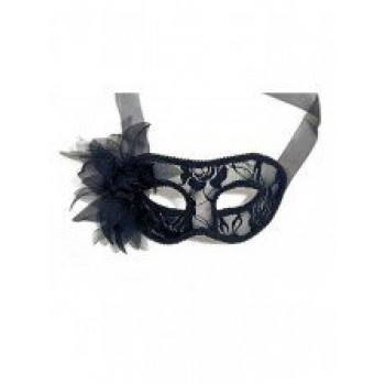 Black Net Mask With Flower