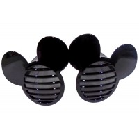 Black Mickey Shutter Eye Glasses