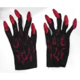 Black Shiny Witch Gloves