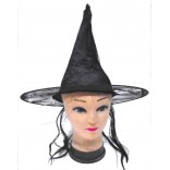 Halloween Witch Hat With Hair