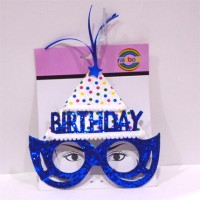 Blue Birthday Printed Eye Glass with Cap