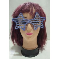 Blue Star Shape Shutter Eye Glass