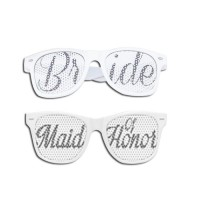 Bride Wedding Eye Glasses (set of 2)