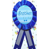 Baby Shower Brother To Be Badge