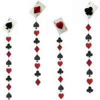 Cards Party Hanging Decor (4 Pc)