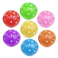 Casino Printed Latex Balloons (Pack of 10 Multicolor Balloons)