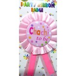 Baby Shower Chachi To Be Badge
