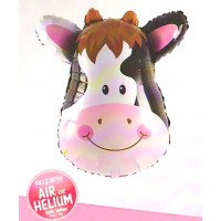Cow Face Super Shape Foil Balloon