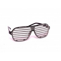 Black Shutter Studded String Eye Glasses