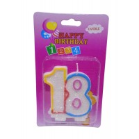 Eighteen Number Candle