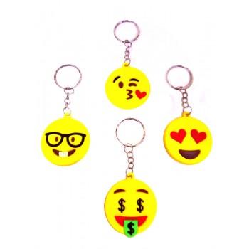 Emoji Theme Assorted Key Chains (Pack of 1)