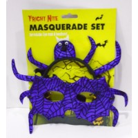 Fright Nite Masquerade Set In Freaky Purple