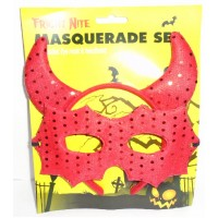 Fright Nite Masquerade Set In Bloody Red