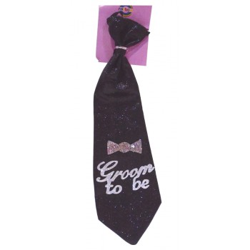 Glittery Groom To Be Tie