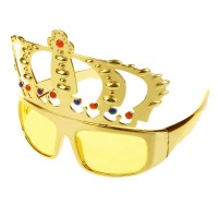 Golden Royal Crown Eye Glasses