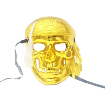 Golden Pirate Plastic Mask