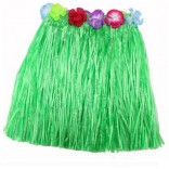 "30"" Green Hawaiian Theme Skirt"