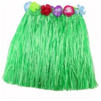 "24"" Green Hawaiian Theme Skirt"