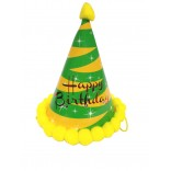 Led Green Happy Birthday Cap